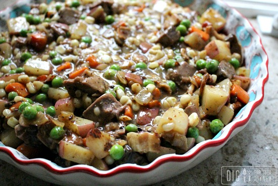 Leftover Pot Roast Pot Pie with Feta a Crust