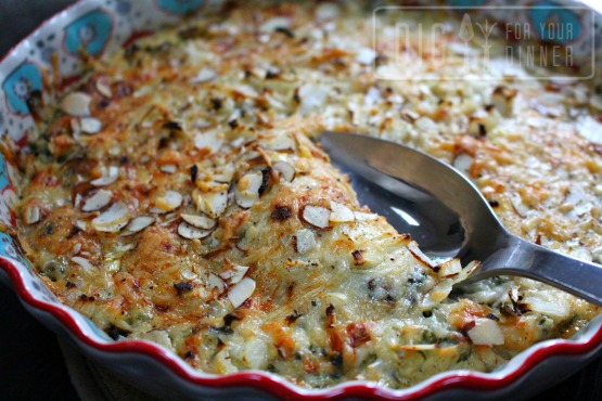 Creamy Cauliflower and Spinach Gratin