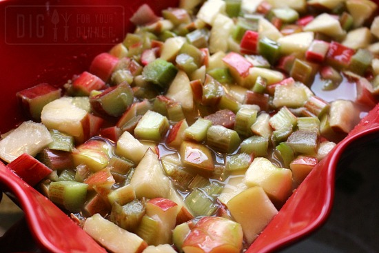 Apple Rhubarb Crunch