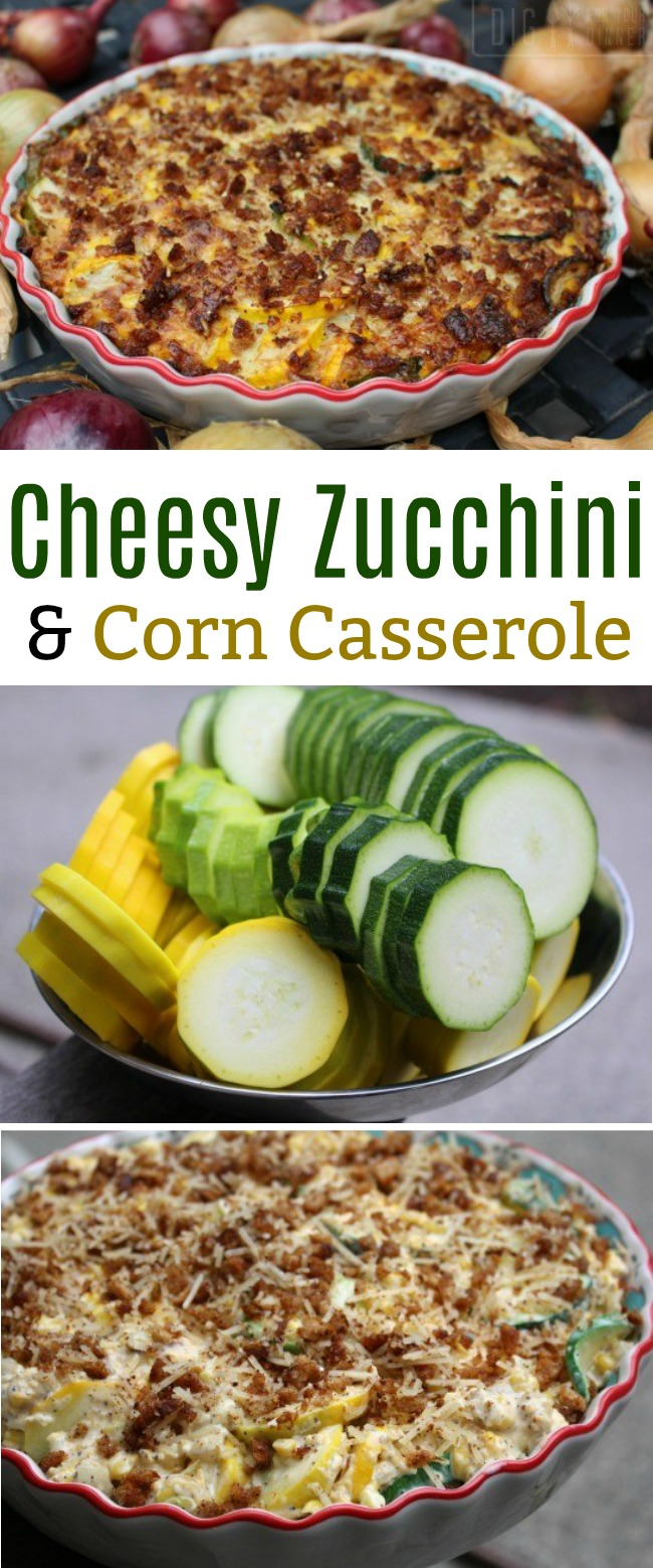 Cheesy Zucchini and Corn Casserole